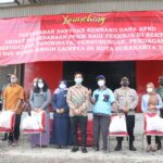 Penyerahan Bantuan Sembako Dana APBD Di Gudang C Pedaringan